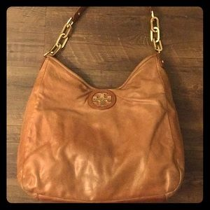 Authentic Leather Tory Burch Hobo with chain link